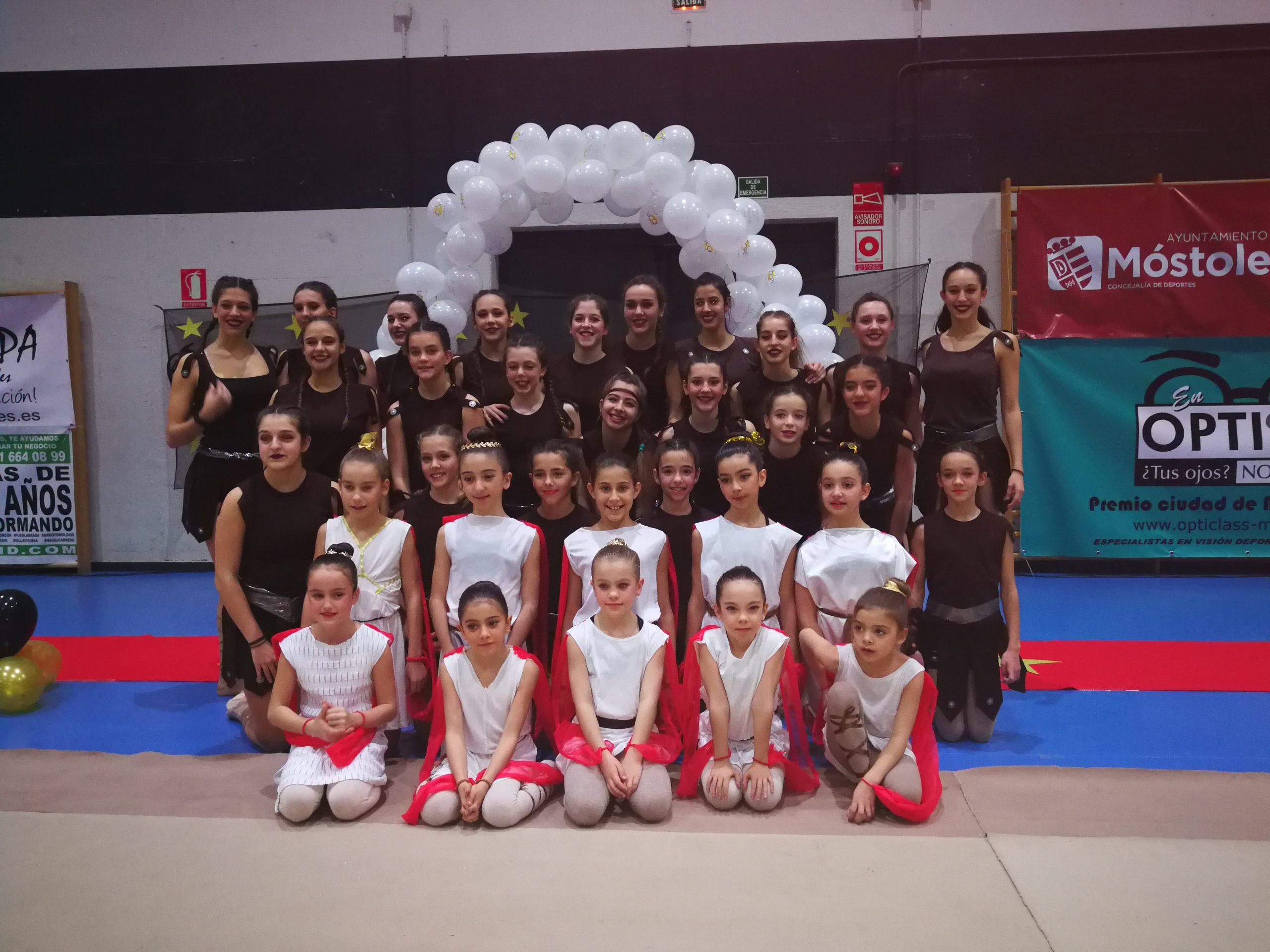 Exhibicion de Navidad del Club Gimnasia Rítmica de Móstoles