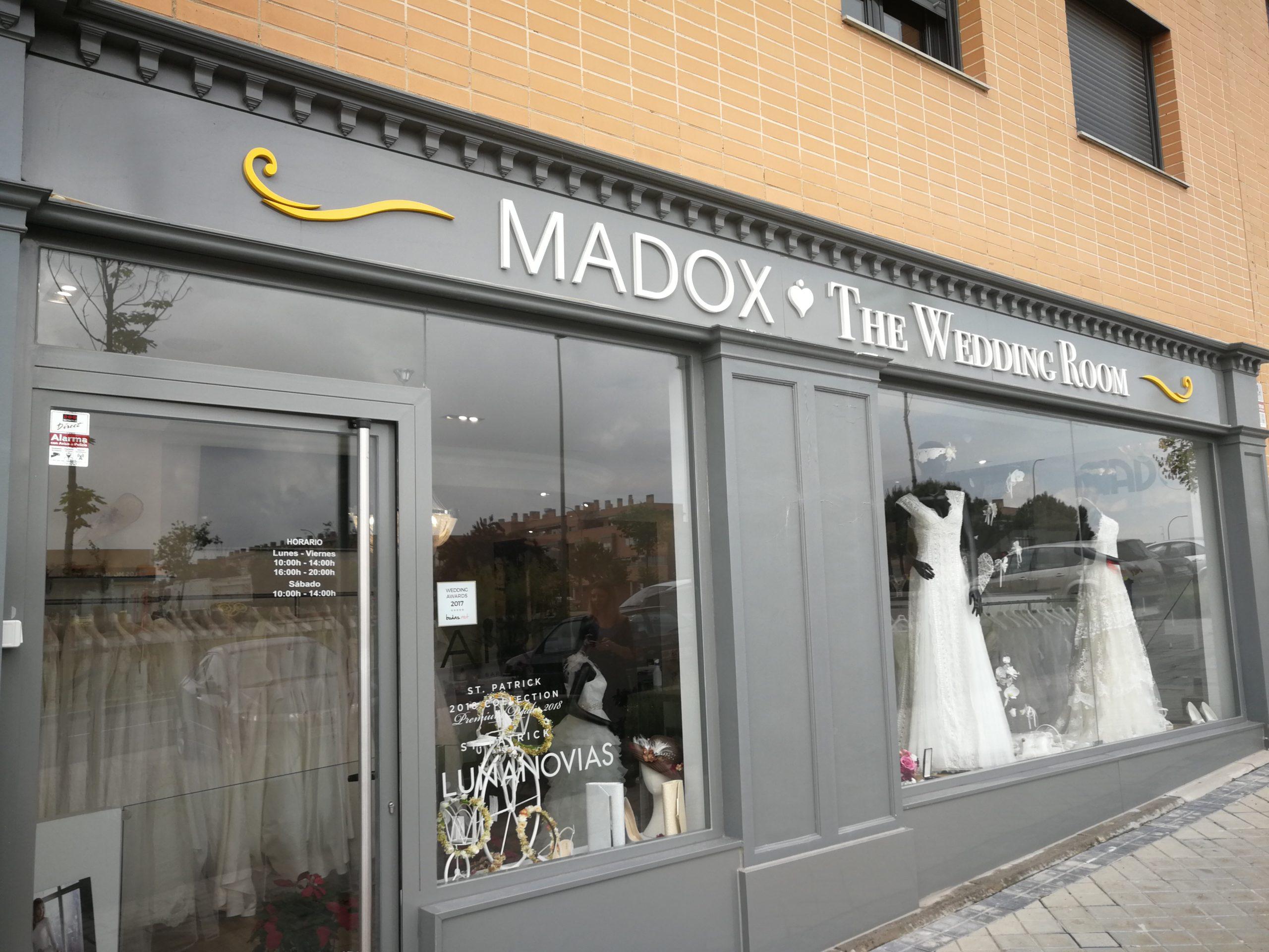 Reportaje a Madox the wedding Room tienda para novias en Arroyomolinos