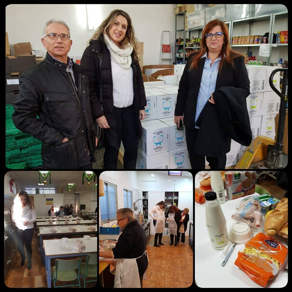 La Granja El Cubillo dona al comedor social San Simón de Rojas 1.100 litros de leche para el fin de semana de Reyes