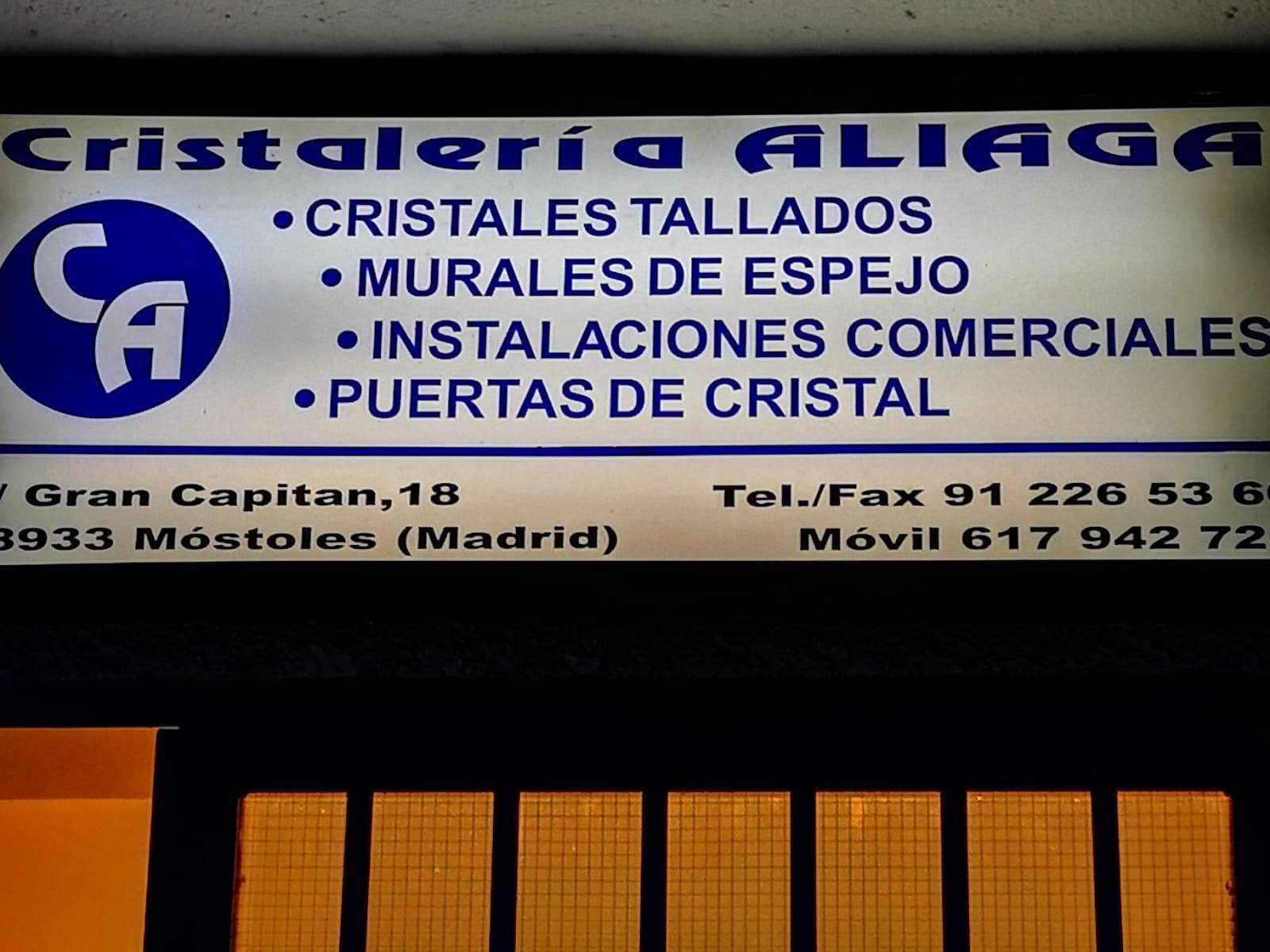 Cristalería Aliaga, trabajos técnicos en cristal en la Comunidad de Madrid