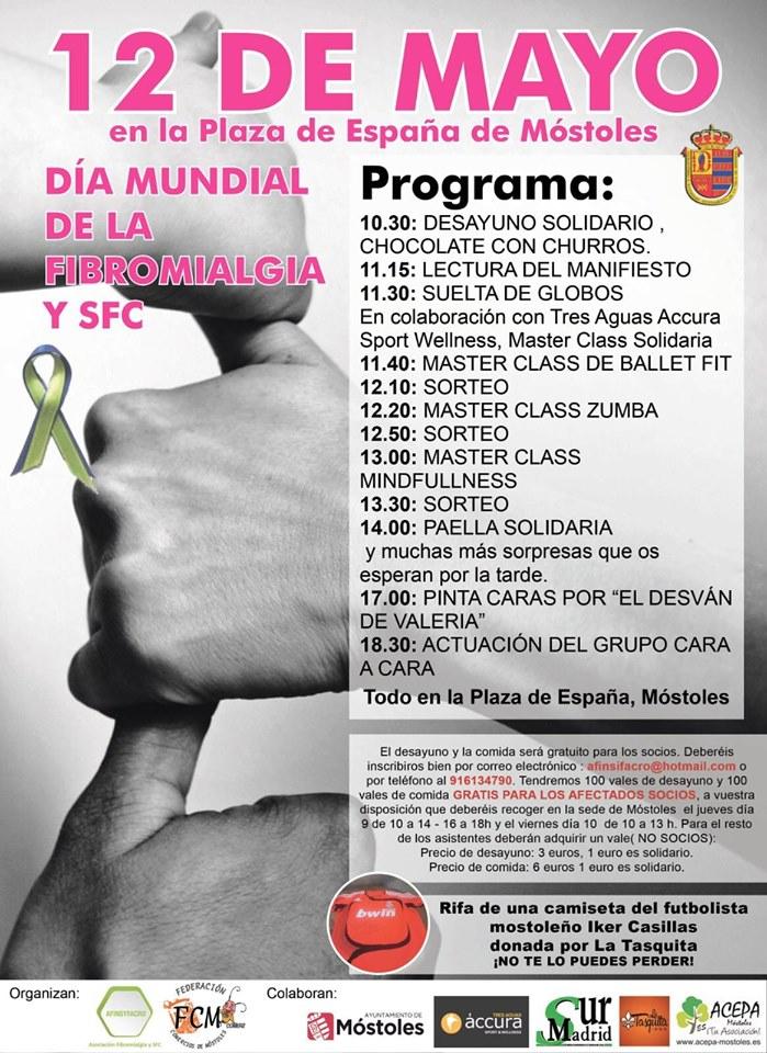 Mostoles celebra el día mundial de la Fibromialgia y el síndrome de Fatiga Crónica