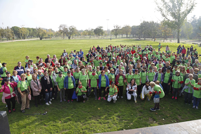 Más de 250 personas participan en la `II Marcha de mayores´ por la Vía Verde de Móstoles
