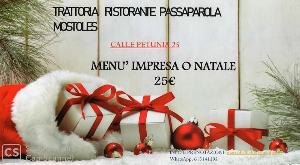 Menús para celebraciones en Passaparola Mostoles