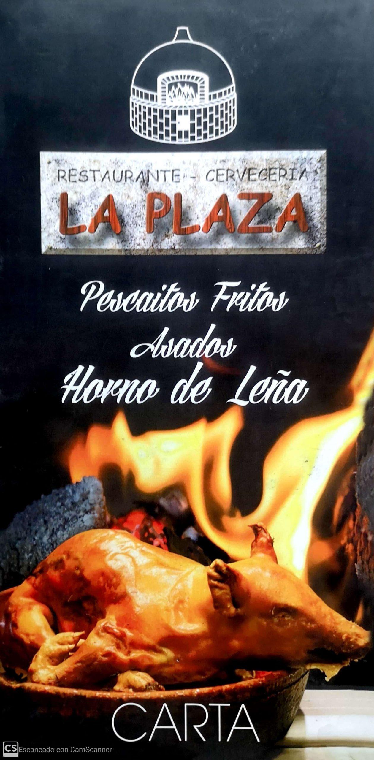 Carta del Restaurante La Plaza