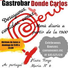 Código qr carta de Dónde Carlos Gastrobar