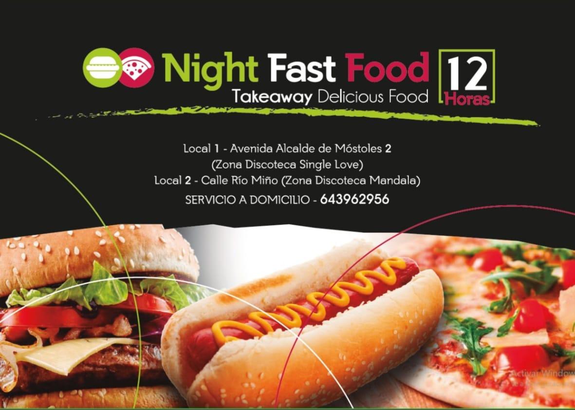 Night Fast Food delivery en Móstoles servicio a domicilio en móstoles